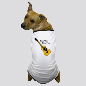 Custom Guitar Design Dog T-Shirt