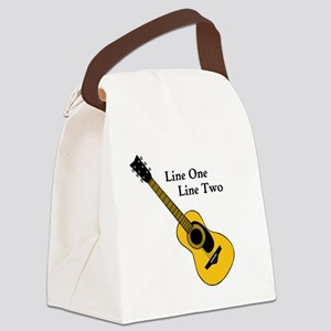 Custom Guitar Design Canvas Lunch Bag