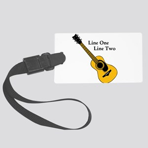 Custom Guitar Design Luggage Tag