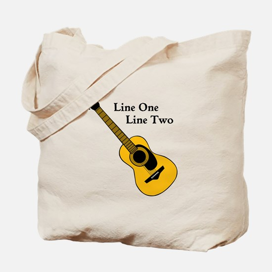 Custom Guitar Design Tote Bag