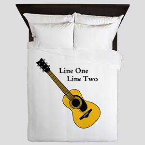 Custom Guitar Design Queen Duvet