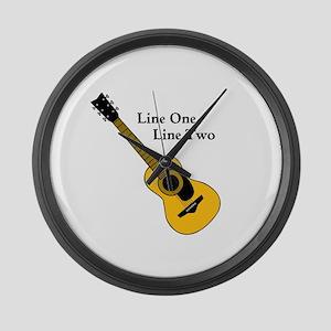 Custom Guitar Design Large Wall Clock