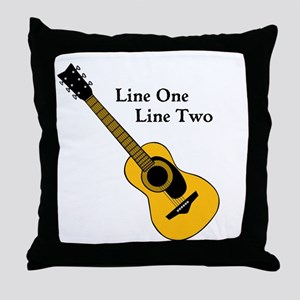 Custom Guitar Design Throw Pillow