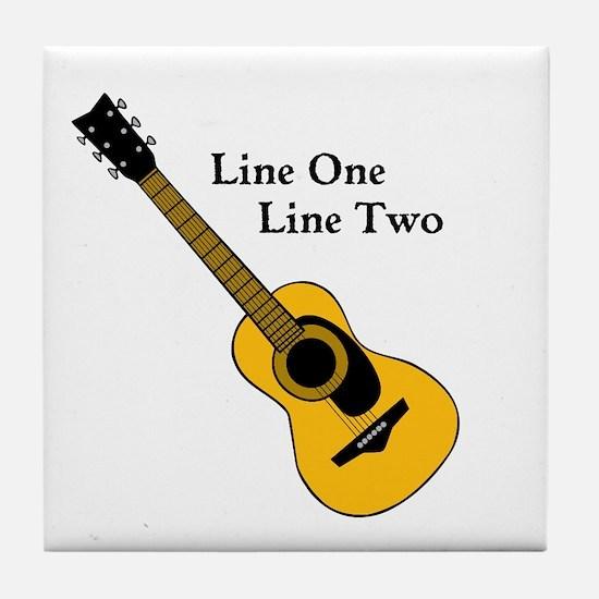 Custom Guitar Design Tile Coaster