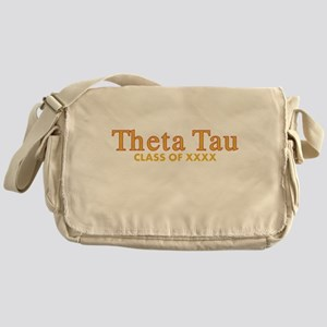 Theta Tau Fraternity Name in Yellow Messenger Bag