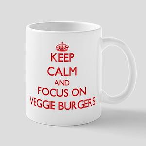 Keep Calm and focus on Veggie Burgers Mugs