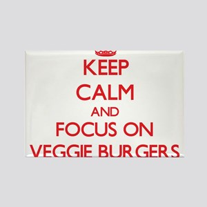 Keep Calm and focus on Veggie Burgers Magnets