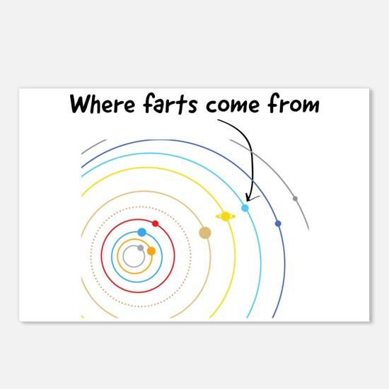 where farts come from Postcards (Package of 8)