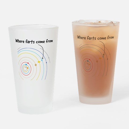 where farts come from Drinking Glass