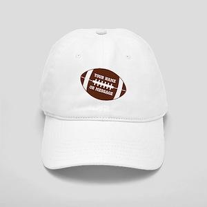 YOUR NAME Football Baseball Cap