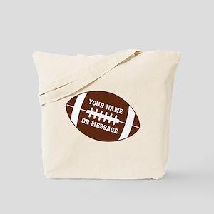 YOUR NAME Football Tote Bag