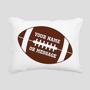 YOUR NAME Football Rectangular Canvas Pillow