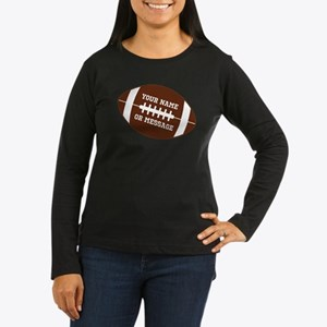 YOUR NAME Football Long Sleeve T-Shirt