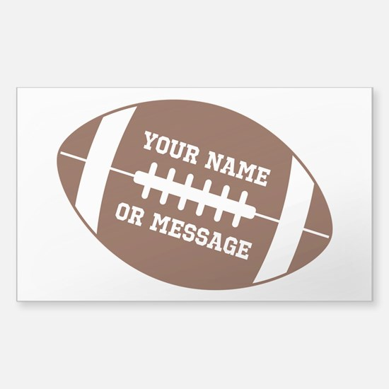 YOUR NAME Football Decal