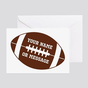 Sports greeting cards cafepress your name football greeting cards m4hsunfo