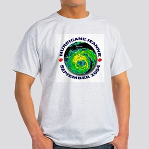 Hurricane Jeanne Satellite Ash Grey T-Shirt
