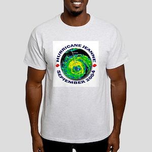 Hurricane Jeanne Satellite Ash Grey T-Shirt