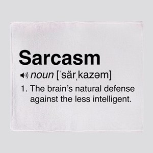 Sarcasm Definition Throw Blanket