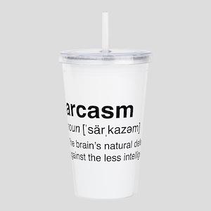 Sarcasm Definition Acrylic Double-wall Tumbler