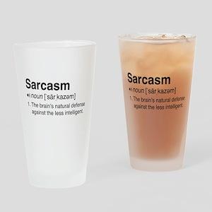 Sarcasm Definition Drinking Glass