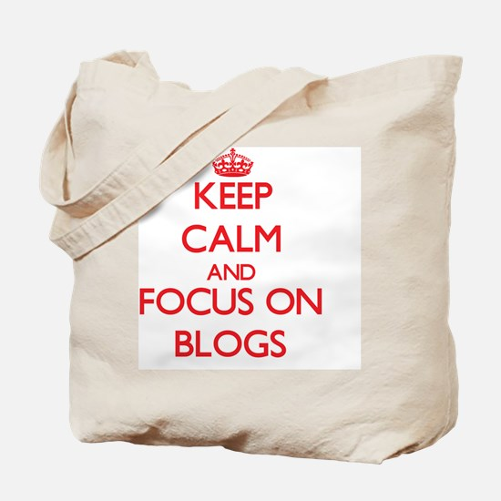 Unique Keep calm and blog on Tote Bag