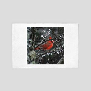 red cardinal 4' x 6' Rug