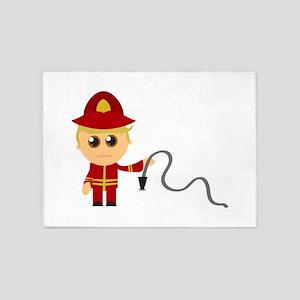 Little Fireman 5'x7'Area Rug