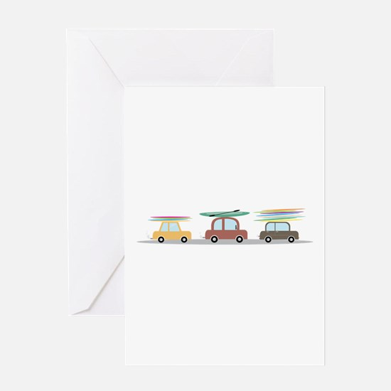Surfer Cars Greeting Cards