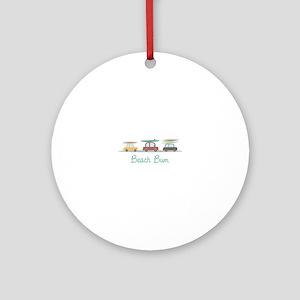 Beach Bum Ornament (Round)