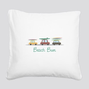 Beach Bum Square Canvas Pillow