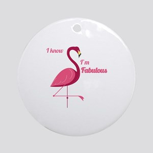 Im Fabulous Ornament (Round)