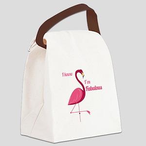 Im Fabulous Canvas Lunch Bag