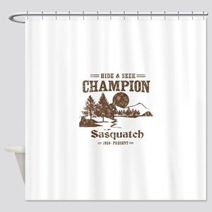 Hide & Seek Champion Sasquatch Shower Curtain