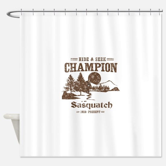 Hide & Seek Champion Sasquatch Shower Curtain