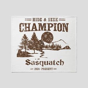 Hide & Seek Champion Sasquatch Throw Blanket