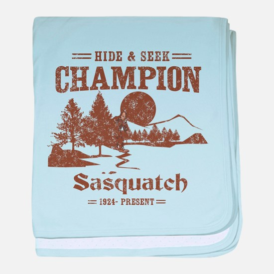 Hide & Seek Champion Sasquatch baby blanket