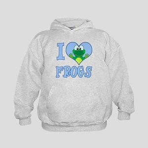 I Love (Heart) Frogs Kids Hoodie