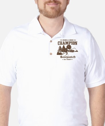 Hide & Seek Champion Sasquatch Golf Shirt
