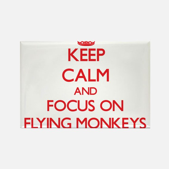 Keep Calm and focus on Flying Monkeys Magnets