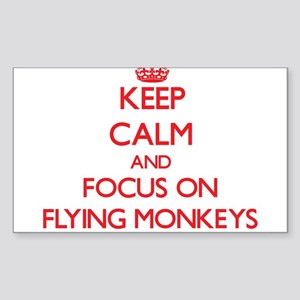 Keep Calm and focus on Flying Monkeys Sticker