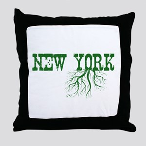 New York Roots Throw Pillow