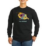 Funny cartoon fish Long Sleeve Dark T-Shirt