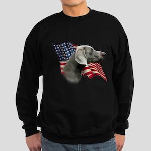 Weimaraner Flag Sweatshirt