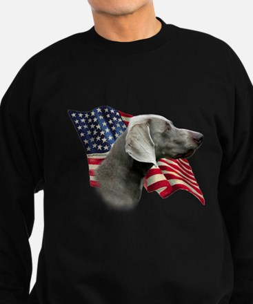 Weimaraner Flag Jumper Sweater