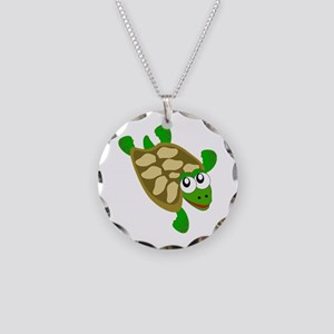 Turtle Necklace Circle Charm