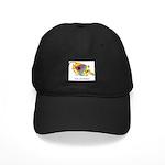 Funny cartoon fish Black Cap