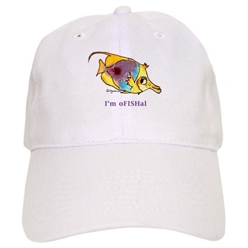 Funny cartoon fish Cap
