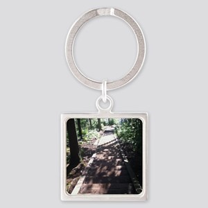 Nature Walk Square Keychain