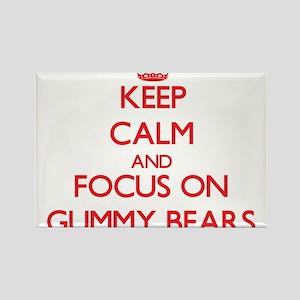 Keep Calm and focus on Gummy Bears Magnets