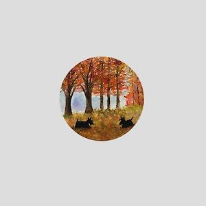 Autumn Scottie Dogs Mini Button